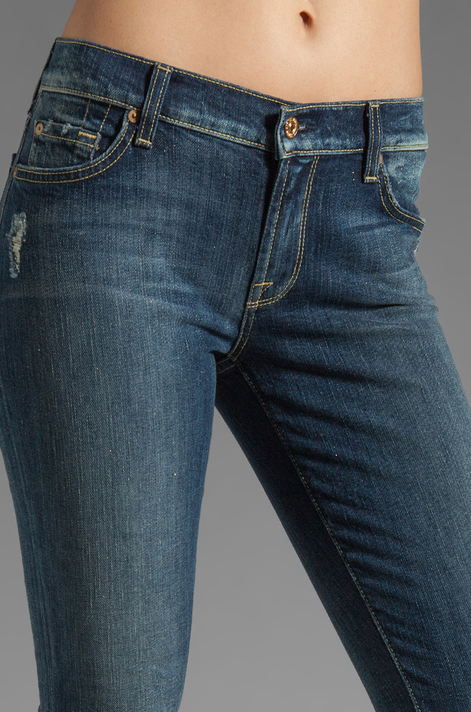 7 For All Mankind The Skinny with Squiggle in Grinded Blue