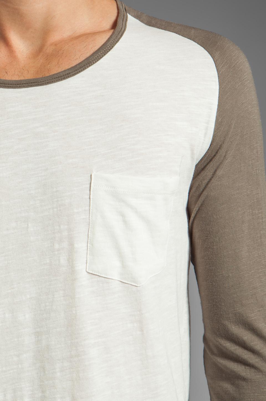 Shades of Grey by Micah Cohen Long Sleeve Baseball Tee in Natural Slub