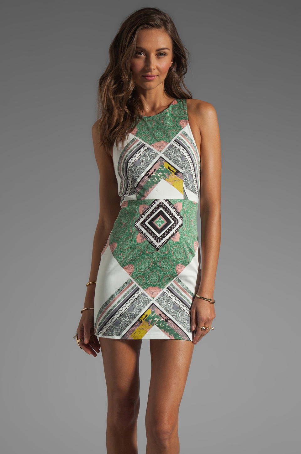 Shona Joy We Surrender Mini Dress in Multi