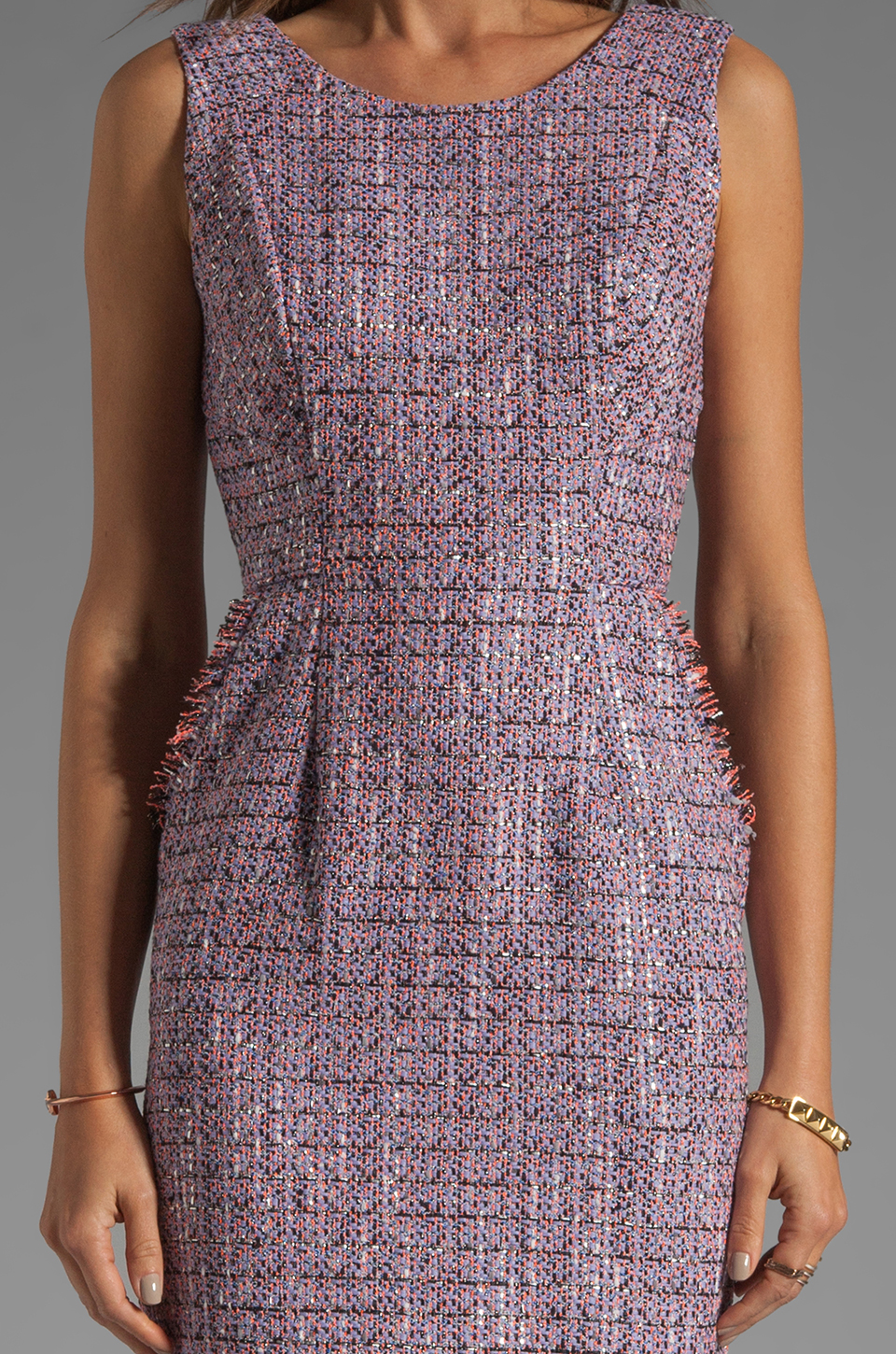 Shoshanna Mika Sheath Dress in Lavender Multi