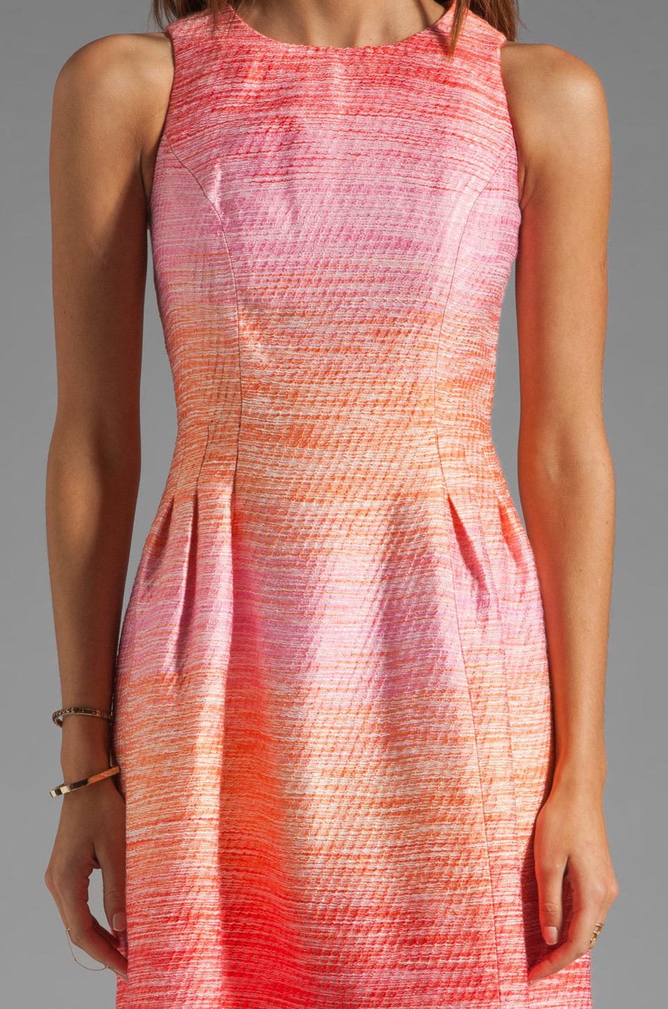 Shoshanna Julia Freya Dress in Peach Multi
