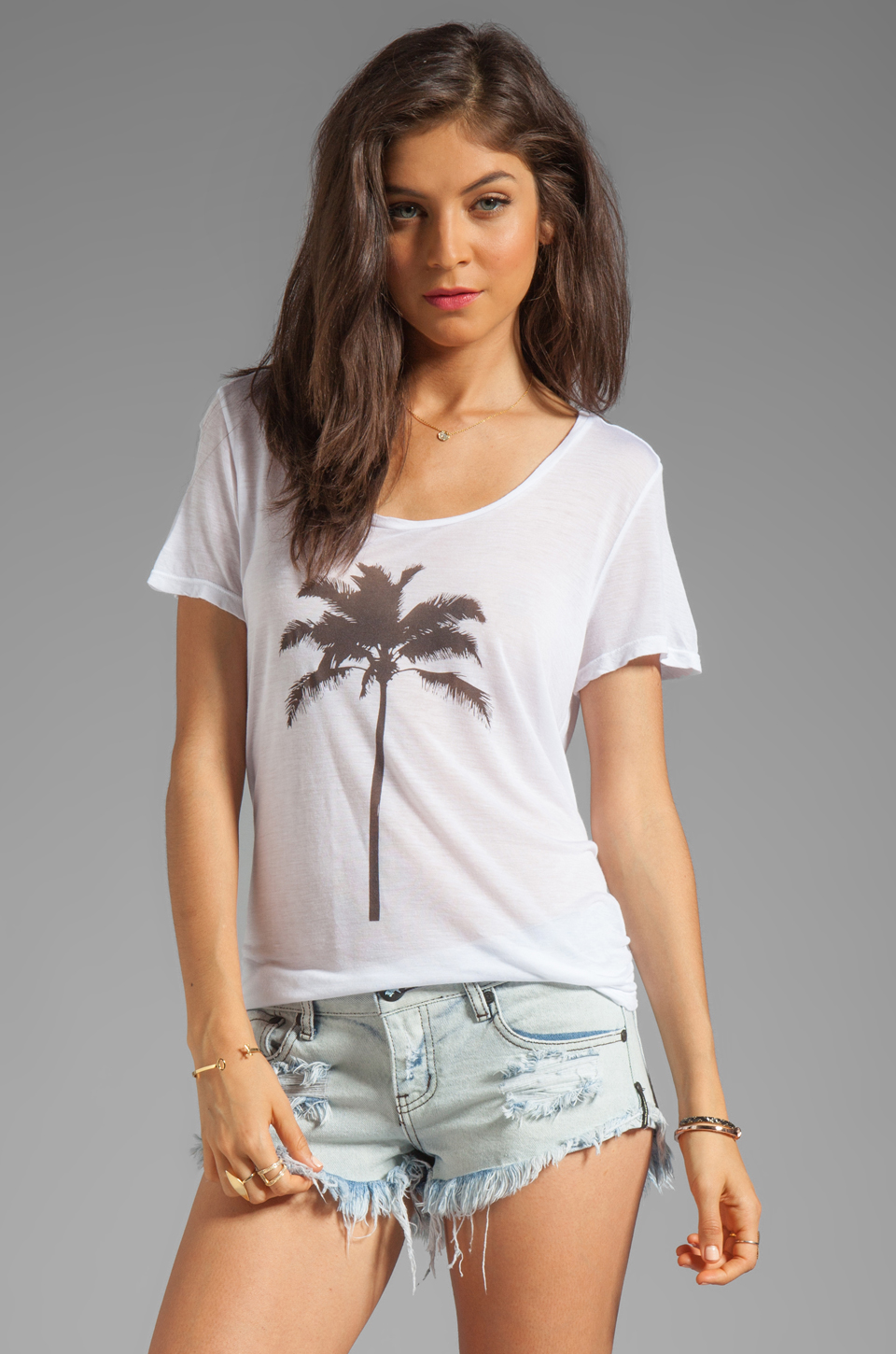 Show Me Your Mumu Graphic Walker Tee in Palm Tree