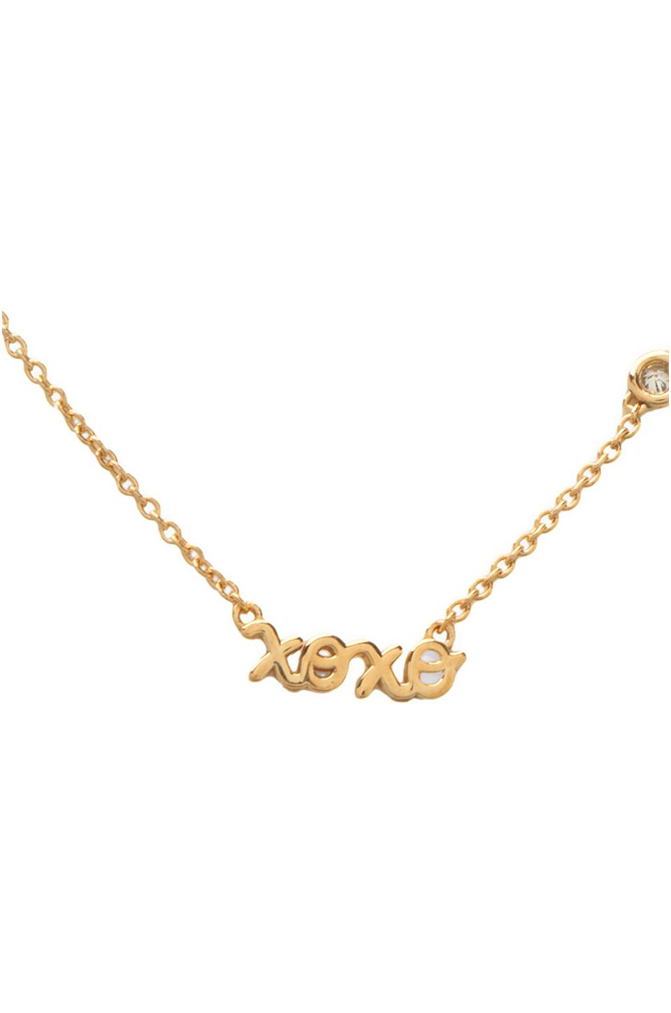 by sydney evan xoxo necklace with in yellow