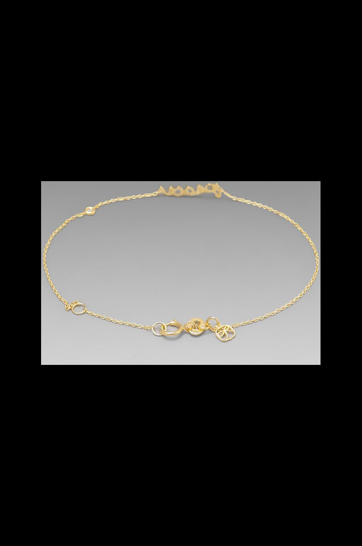 Shy by Sydney Evan Peace Bracelet in Yellow Gold