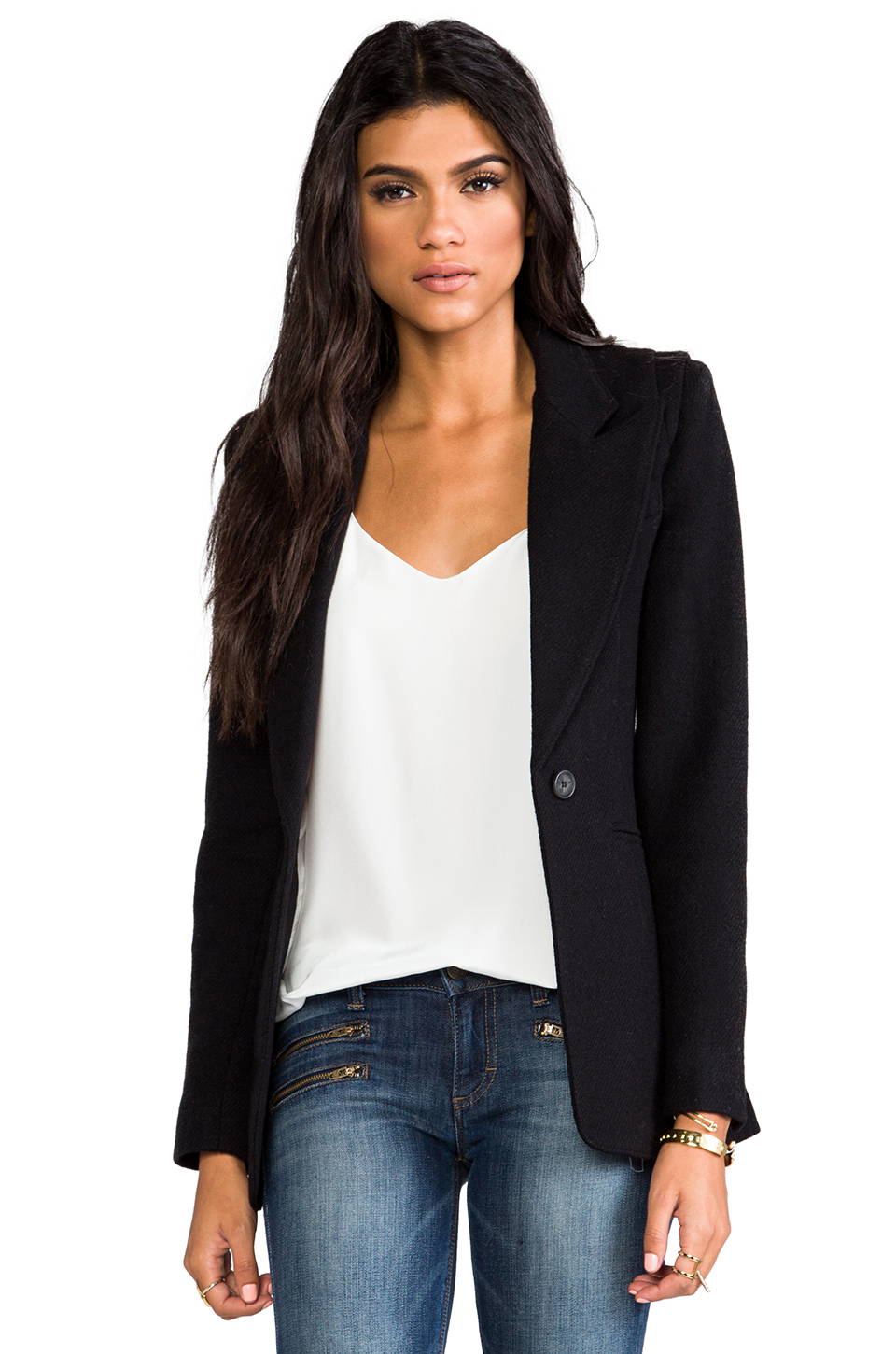 Smythe Hourglass Blazer in Black at Revolve Clothing