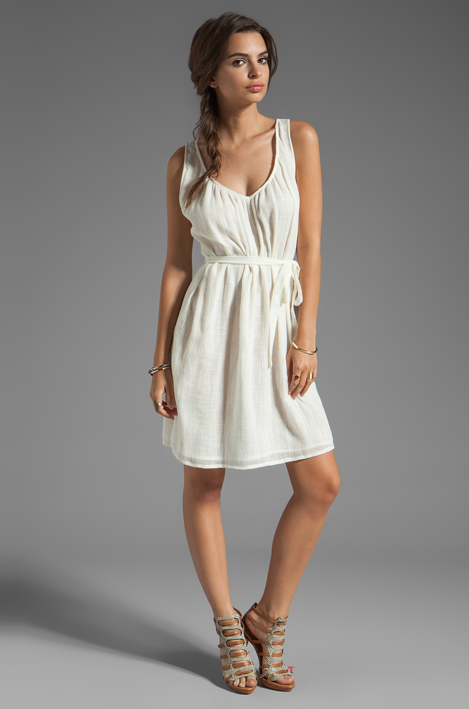 Soft Joie Langford Tank Dress in Porcelain