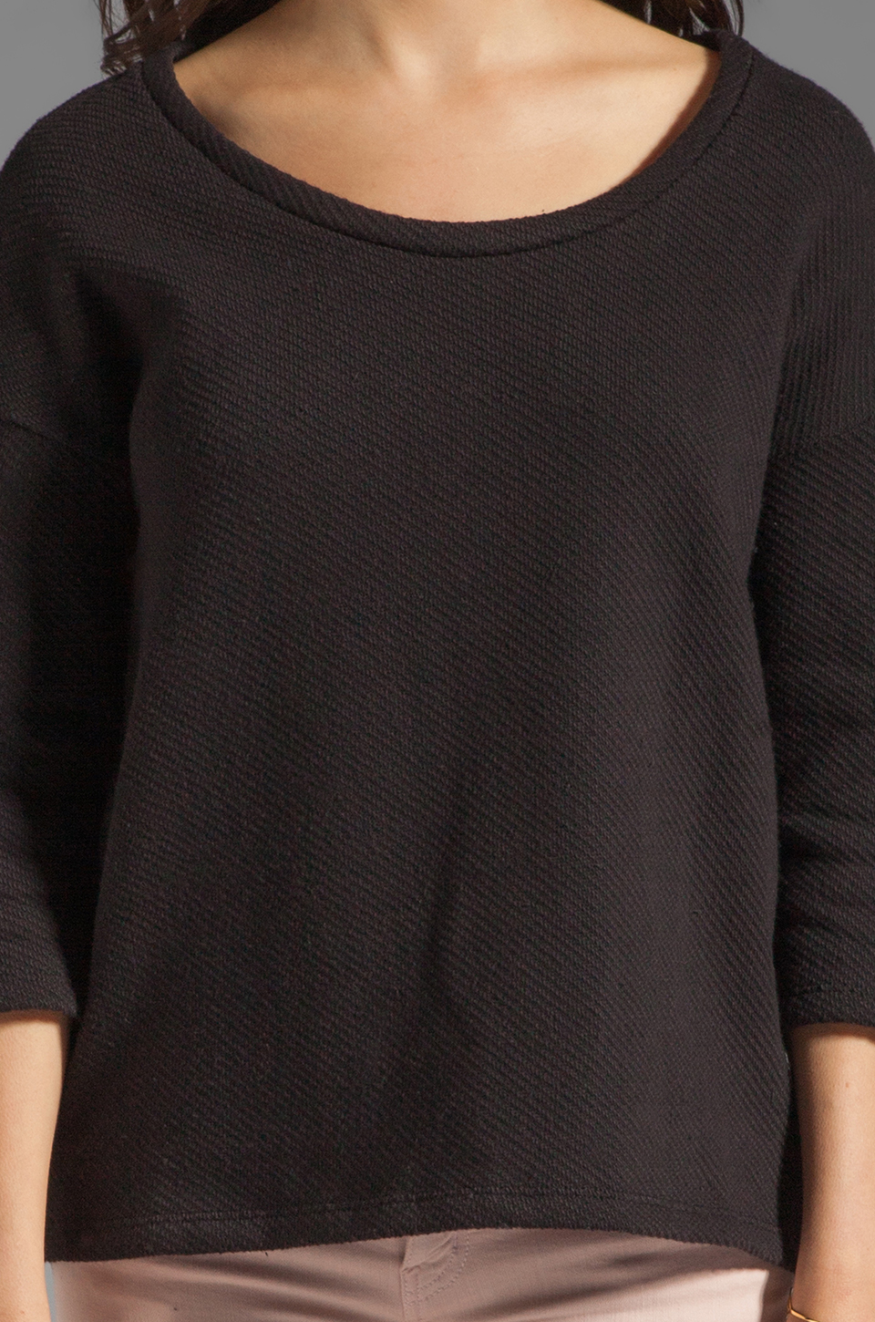 Soft Joie Chante French Terry Sweatshirt in Caviar