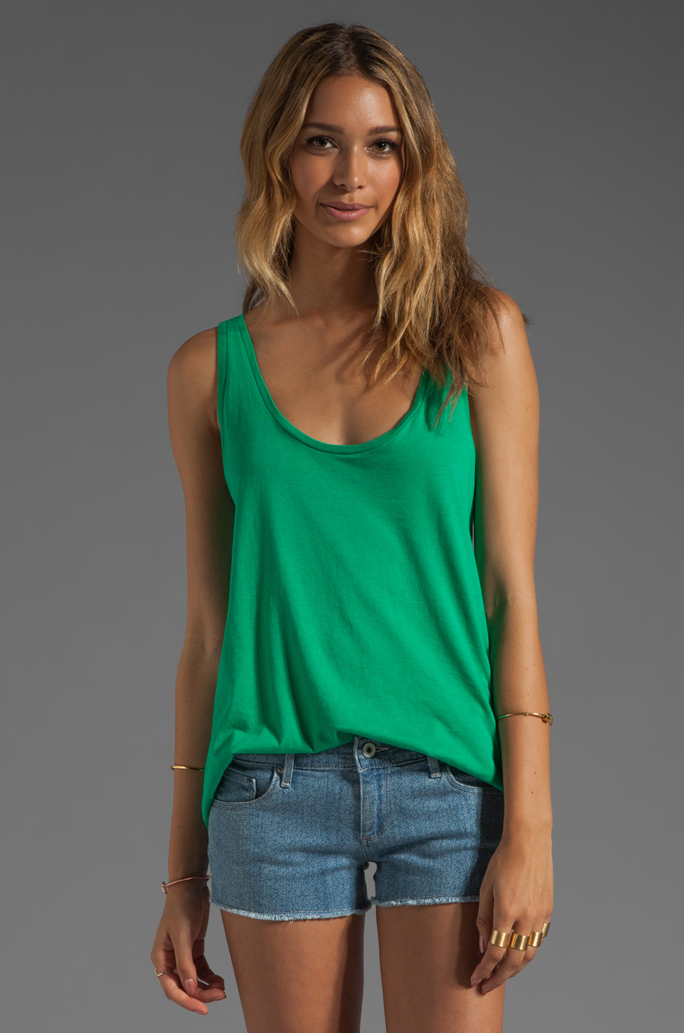 Soft Joie Ira Tank in Sea Green