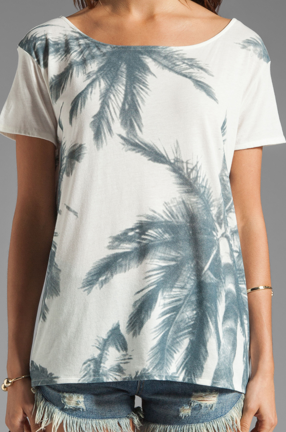 Soft Joie Katerina B Palm Springs Print Top in Peacoat