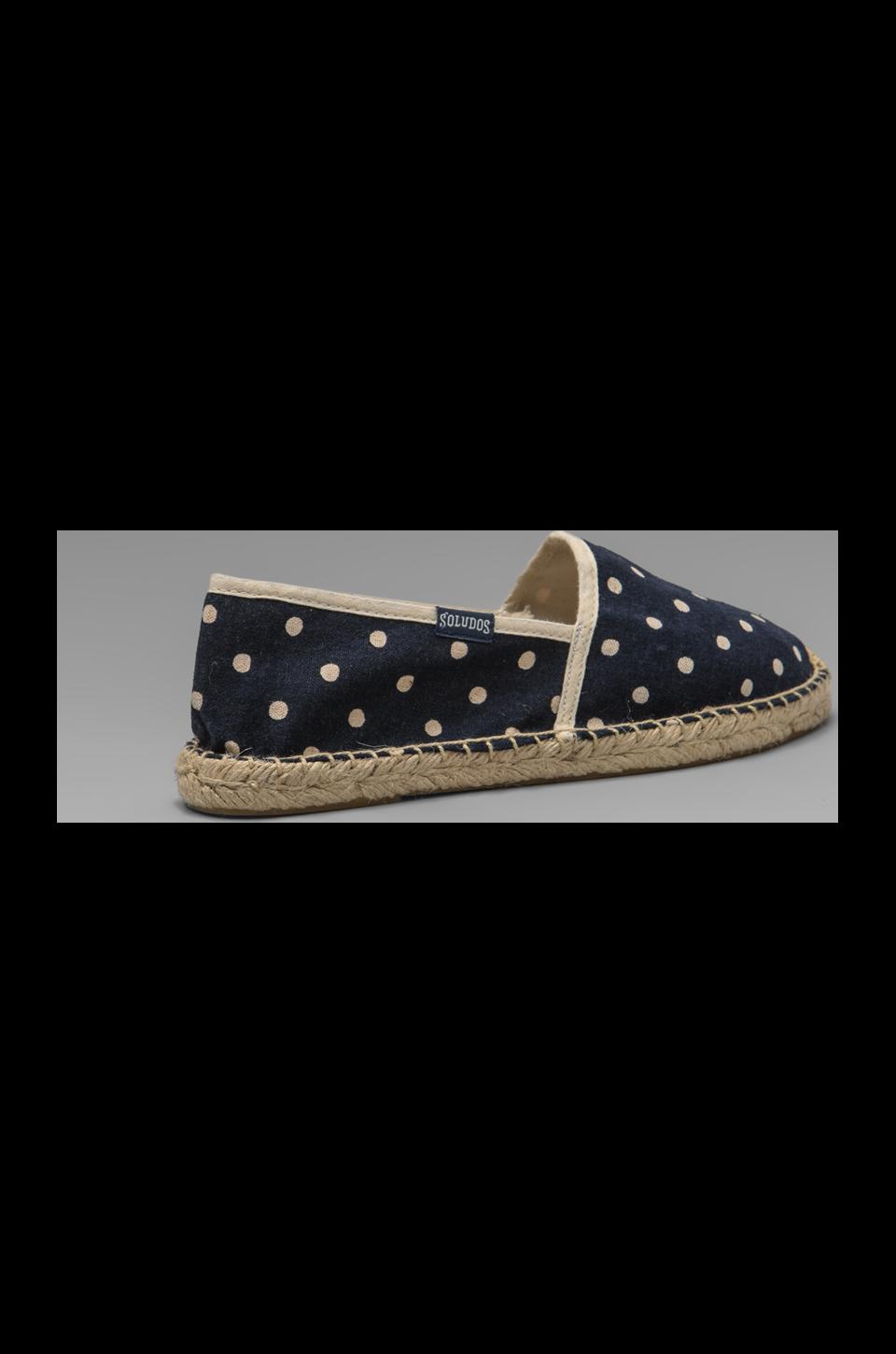 Soludos Polka Dot in Navy White