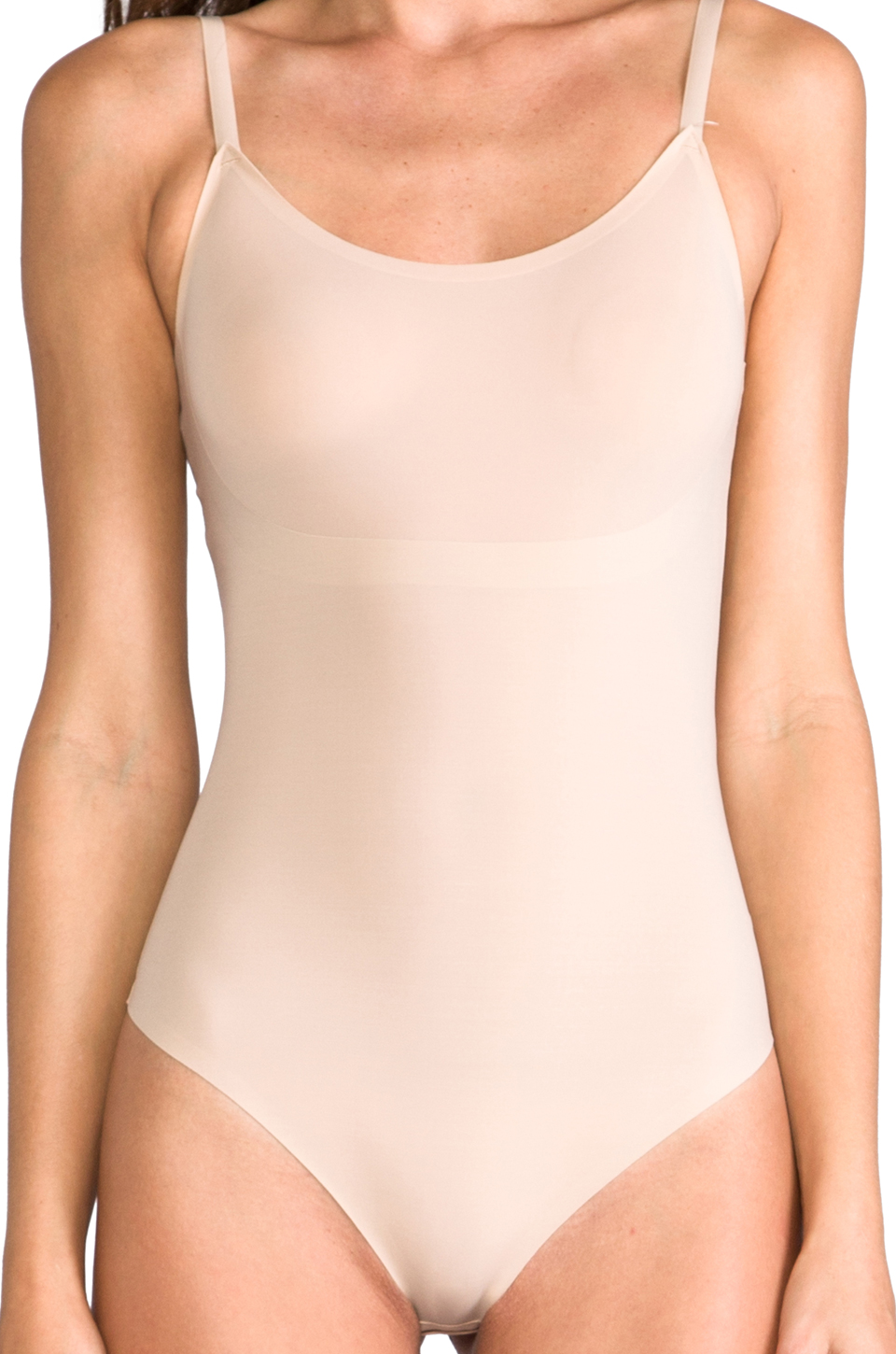 SPANX Trust Your Thin-stincts Thong Bodysuit in Natural