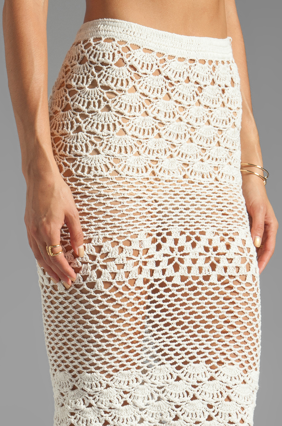Spell & The Gypsy Collective Coconut Crochet Skirt in Off White ...