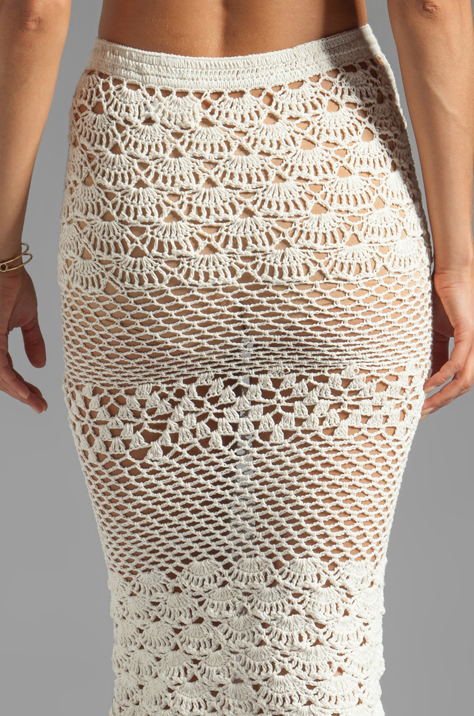 How To Spell Crochet : Spell & The Gypsy Collective Coconut Crochet Skirt in Off White ...