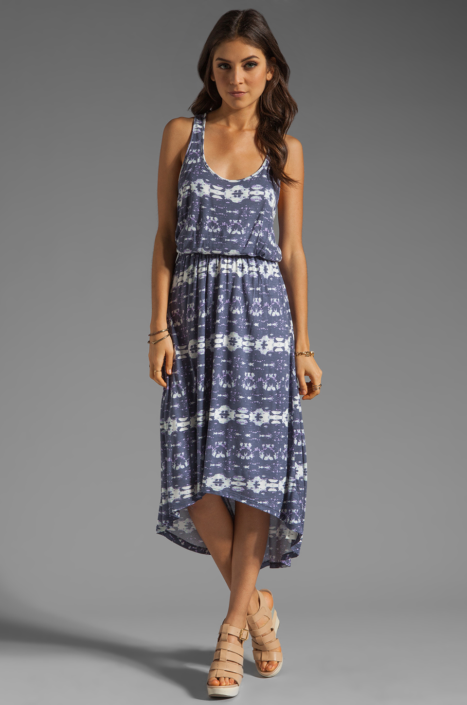 Splendid Tribal Print Maxi in Shadow