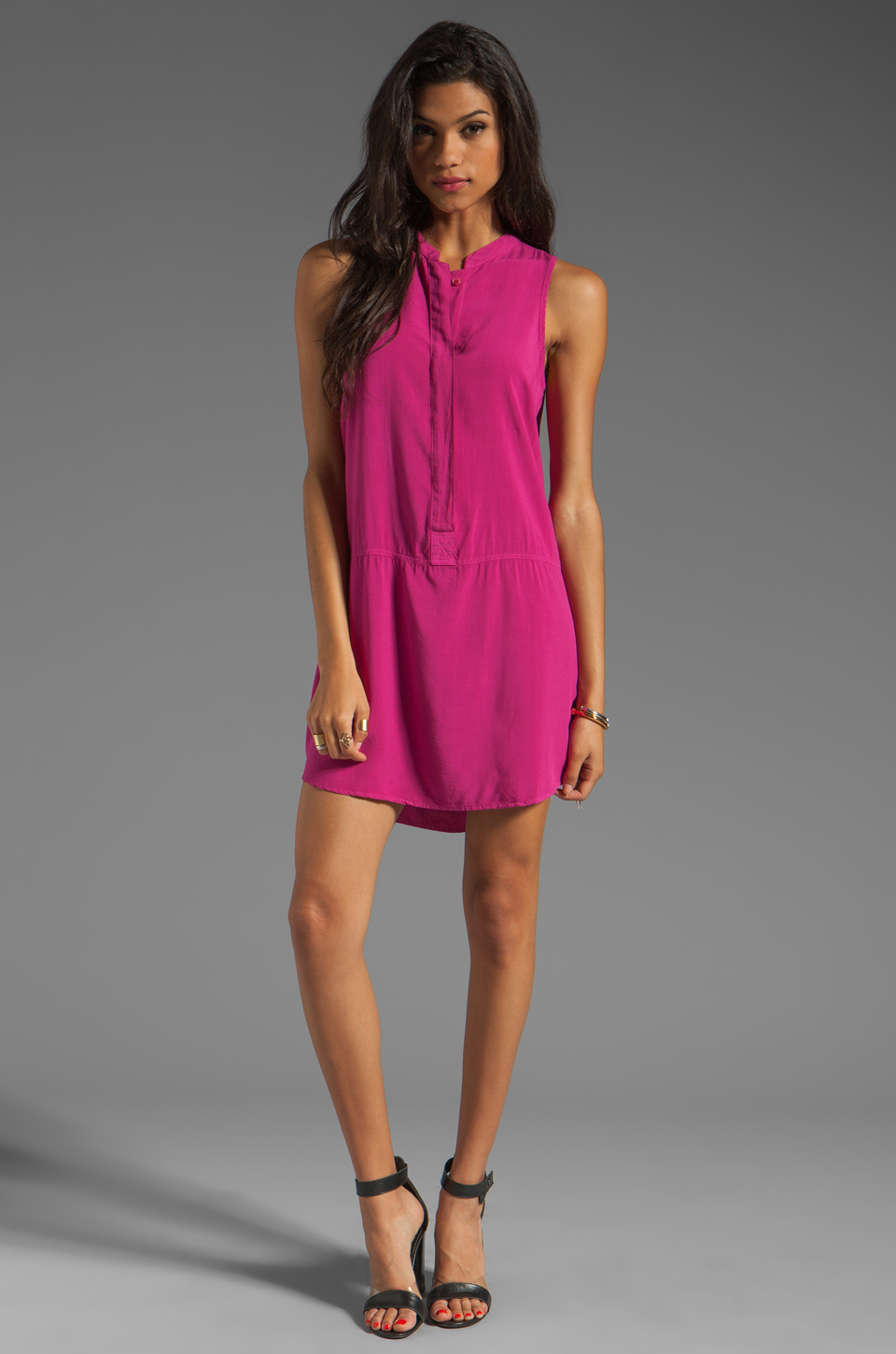 Splendid Tank Dress in Plum