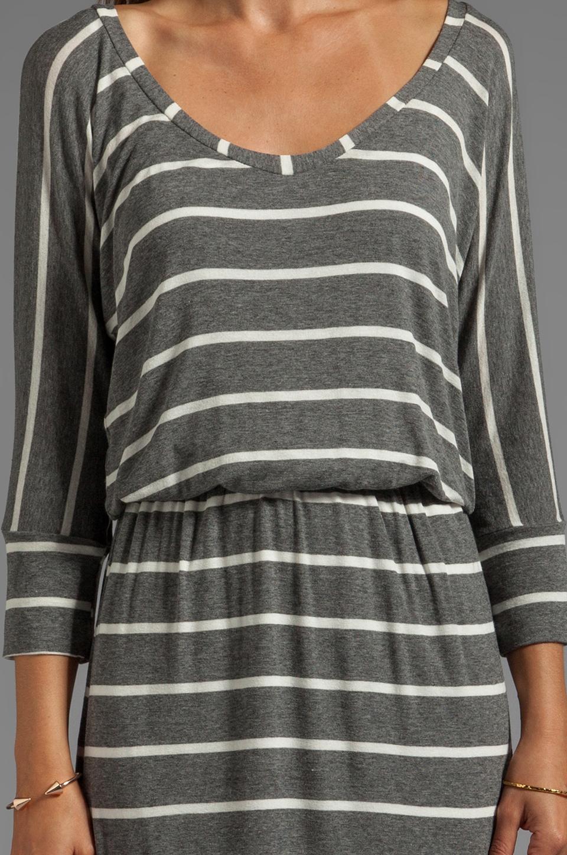 Splendid Short Sleeve Striped Mini Dress in Steel