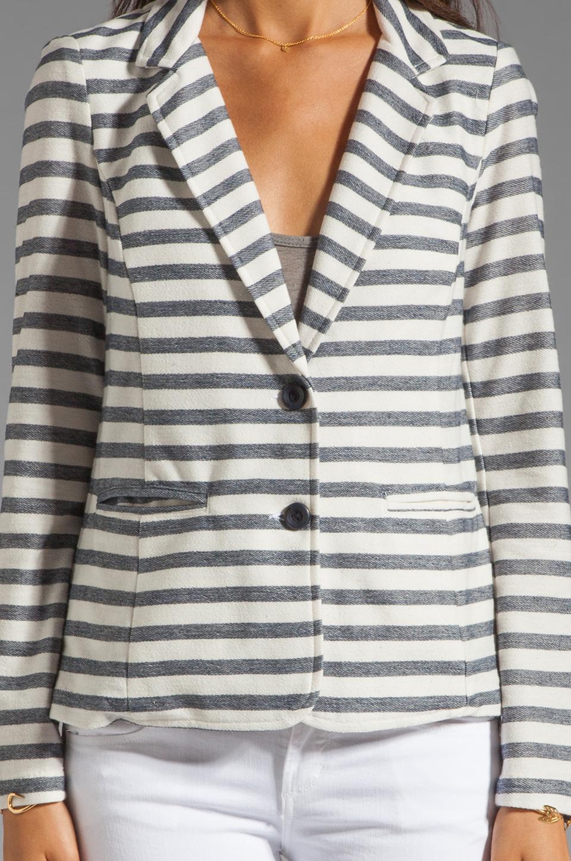 Splendid Nantucket Stripe Blazer in Pearl/Navy