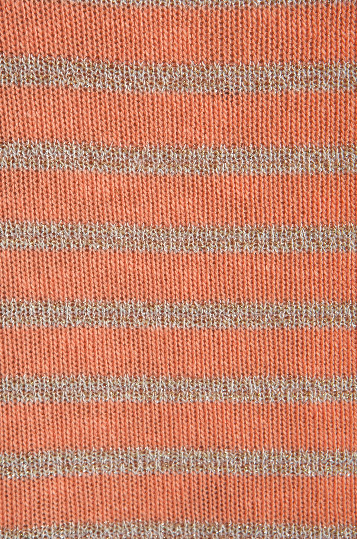 Splendid Disco Stripe Loose Knit Tank in Apricot