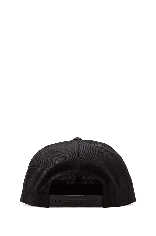 SSUR Caviar Script Snapback in Black/White
