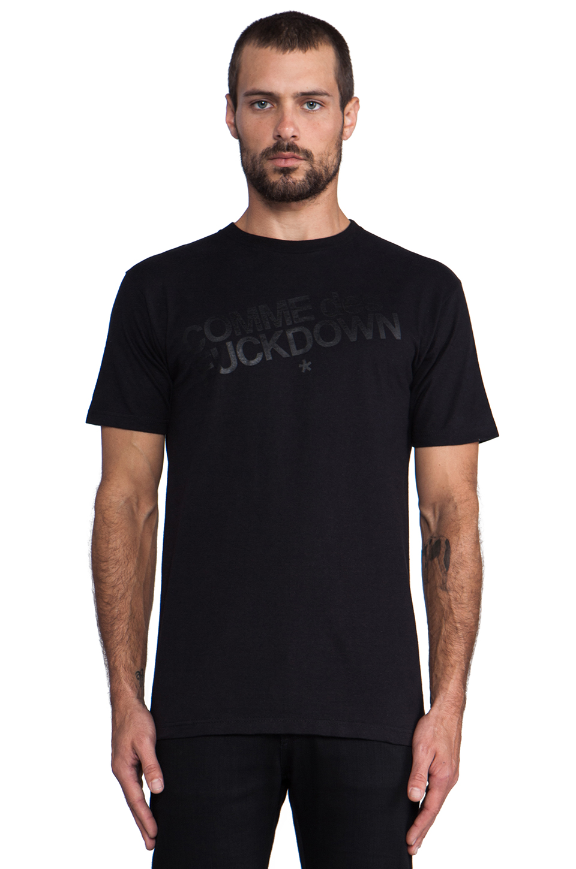 SSUR Comme Des Fuckdown in Black/Black