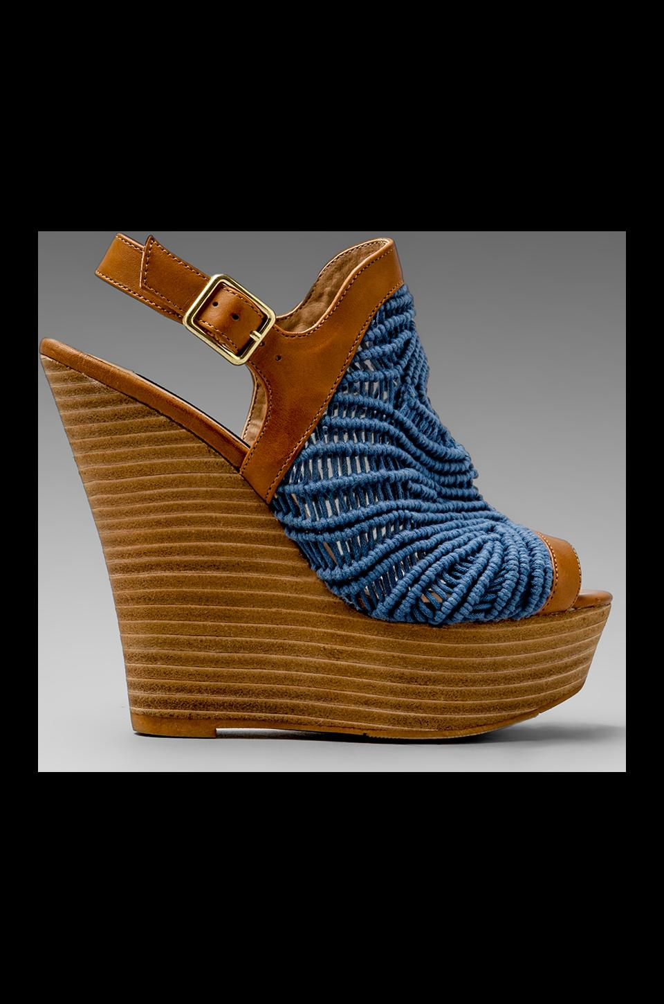 Steven Jacks Wedge Sandal in Blue