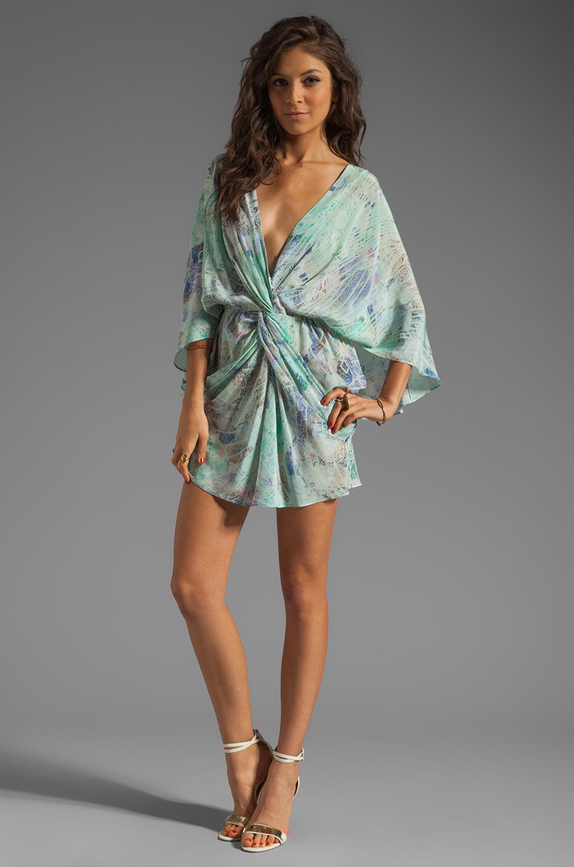 Talulah Drape Dress in Blue Horizon