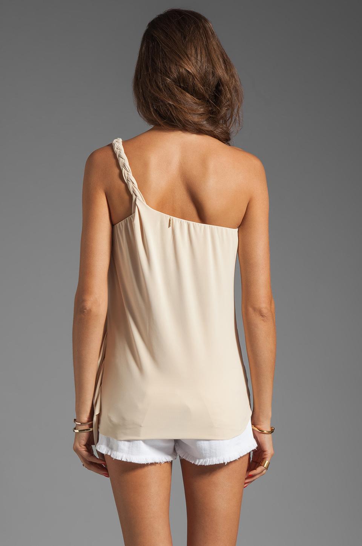 T-Bags LosAngeles One Shoulder Drape Tank in Cream