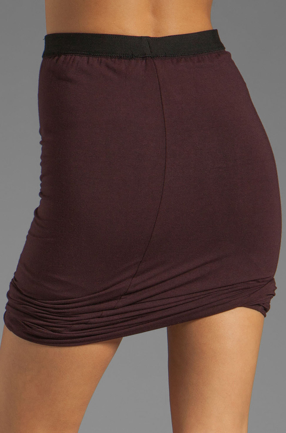 T by Alexander Wang Micro Modal Spandex Twist Skirt in Iodine