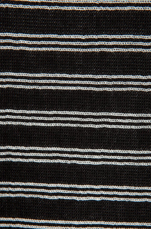 T by Alexander Wang Stripe Knit Long Sleeve Top in Black/White