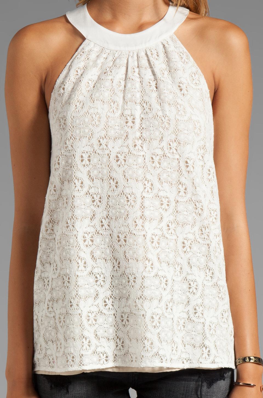 Crochet Halter Top : Testament Crochet Halter Top in White REVOLVE