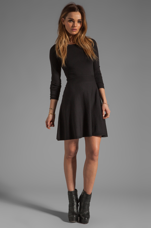 Theory Gleam Annarey Silk/Cotton Blend Dress in Black