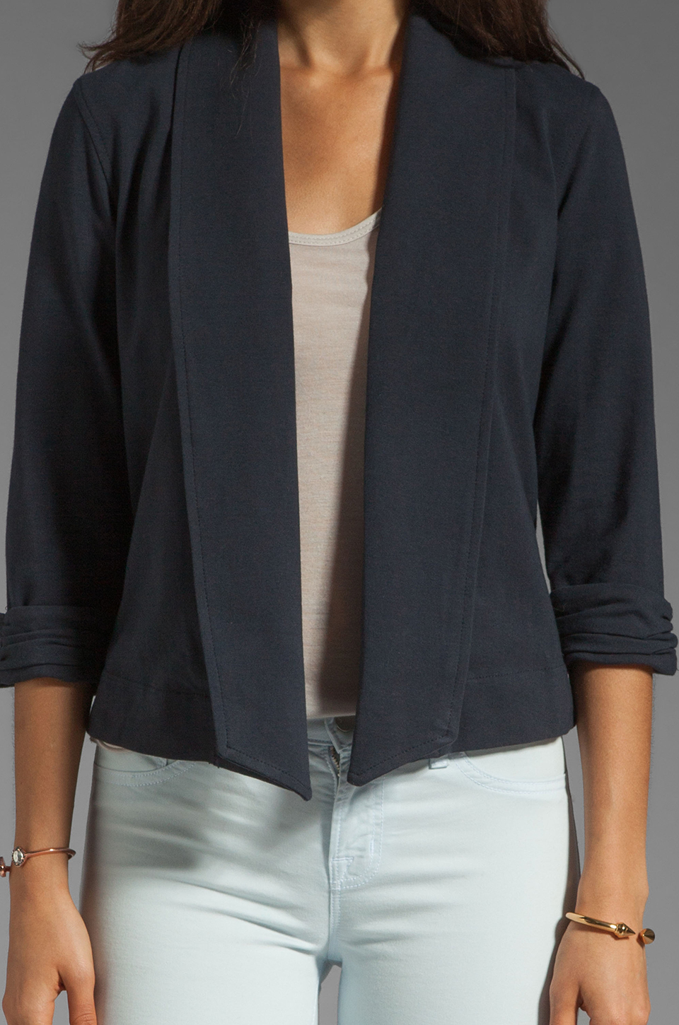 Theory Ode Ashbey B Jersey Blazer in Navy