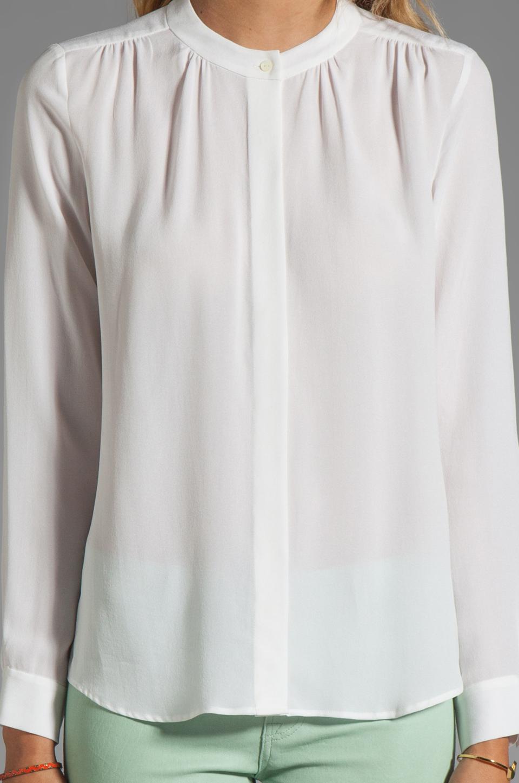 Theory Saleya Latavia Silk Crepe Blouse in White