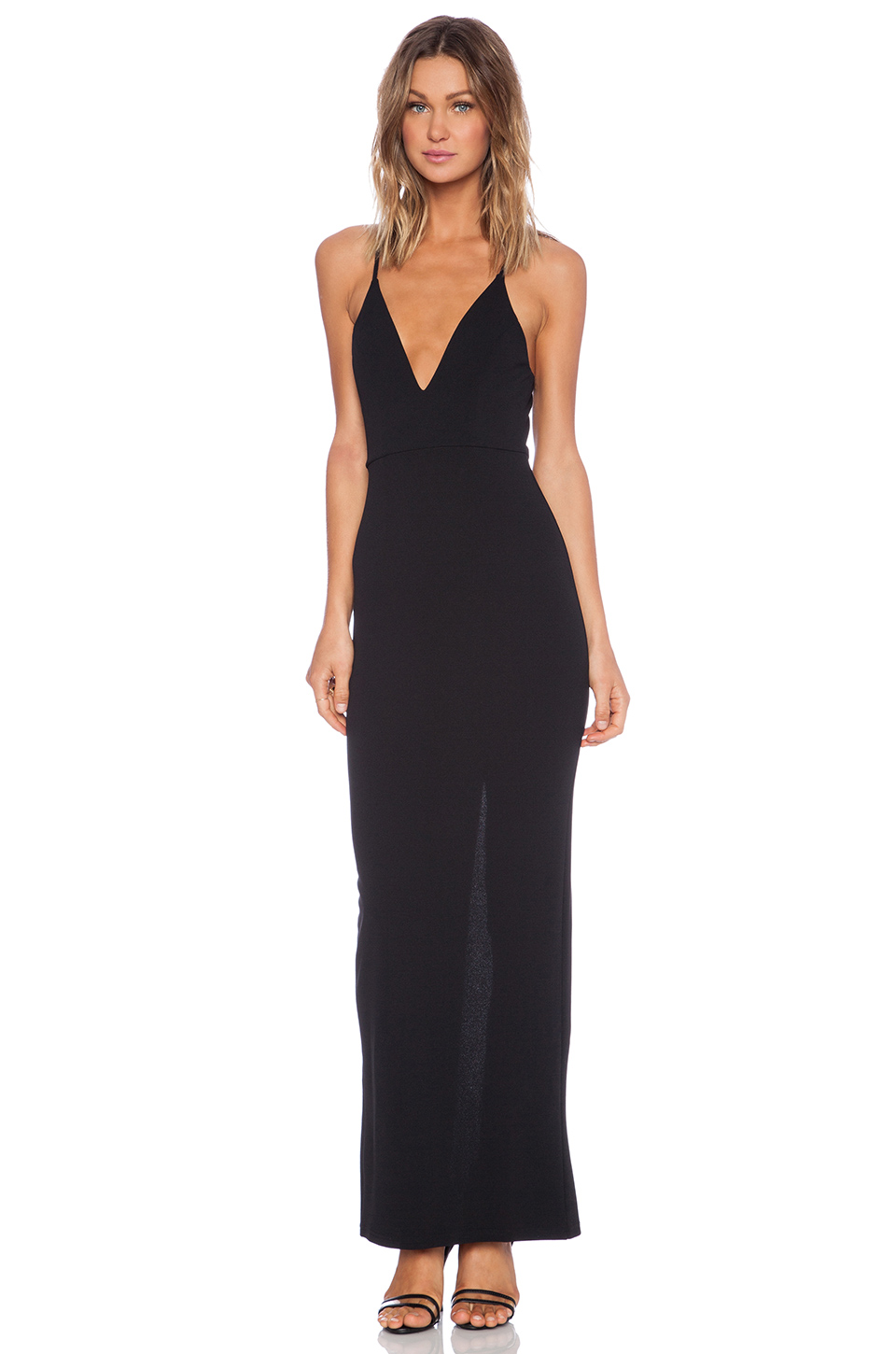 Toby Heart Ginger Polly Maxi Dress in Black