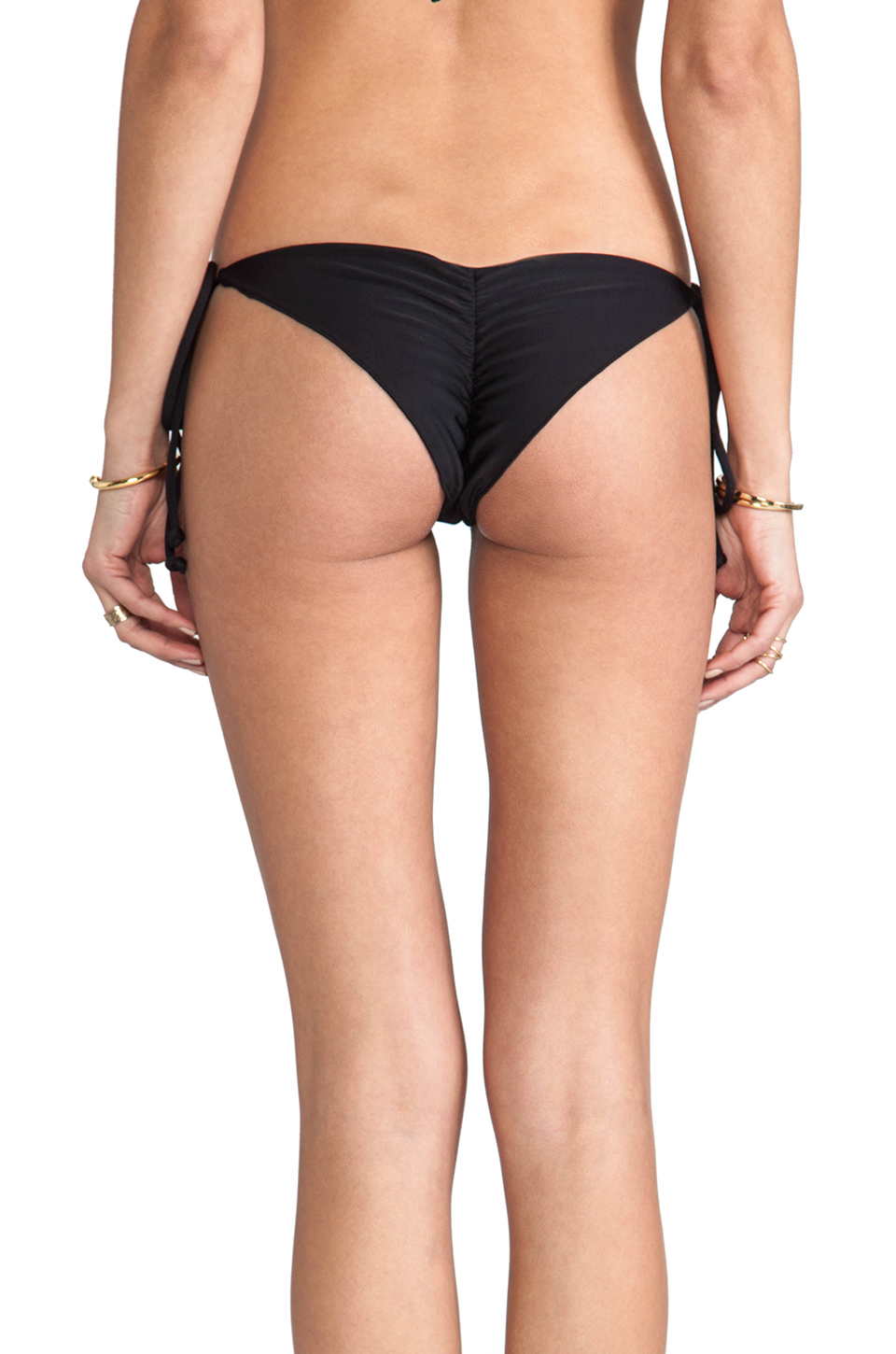 Tori Praver Swimwear Sage Bikini Bottom in Black