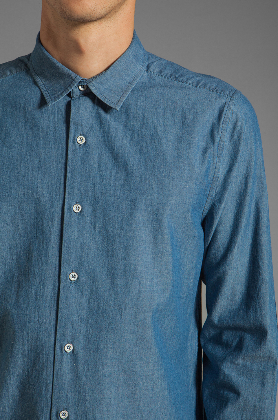 TOVAR Nathan Button Up in Chambray