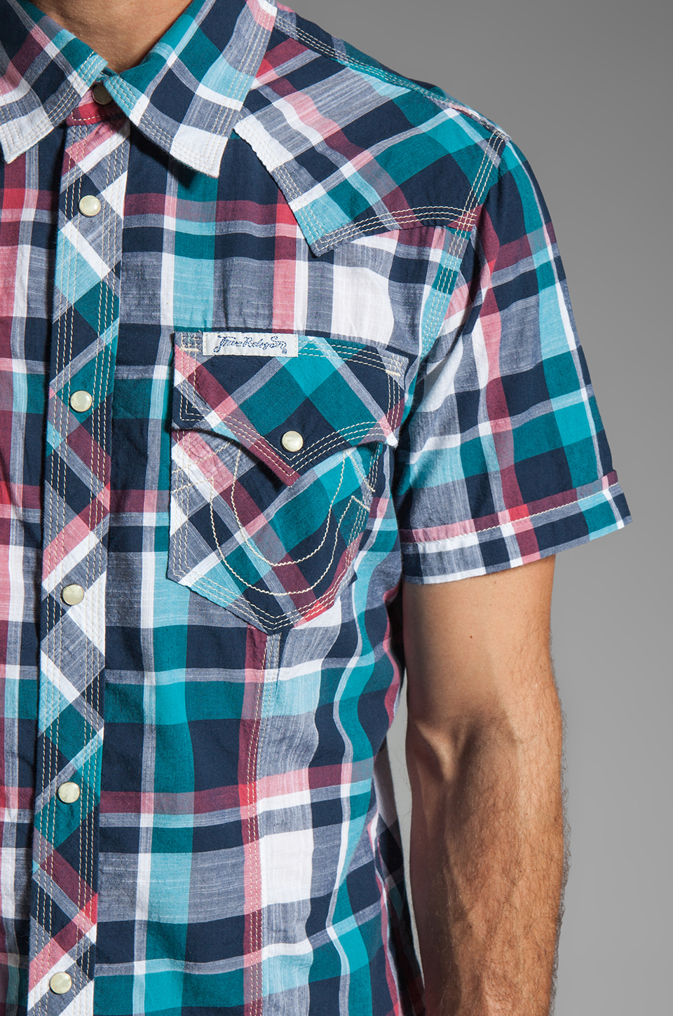 True Religion Rocky Western Shirt in Lagoon