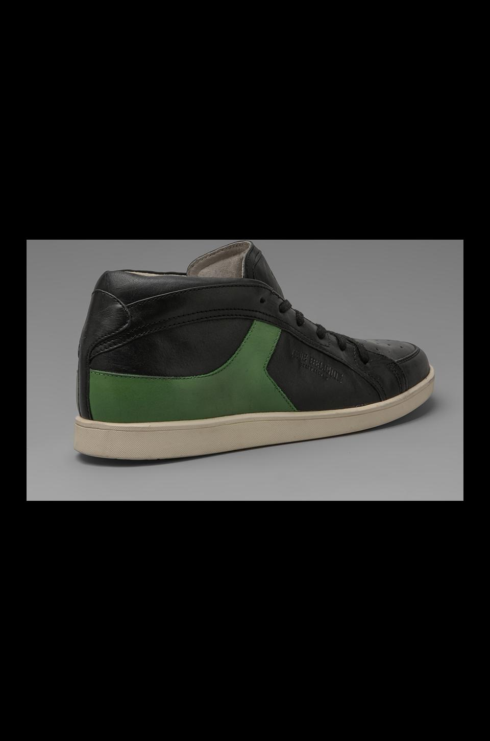 True Religion Lincoln Mid Sneaker in Black/Green