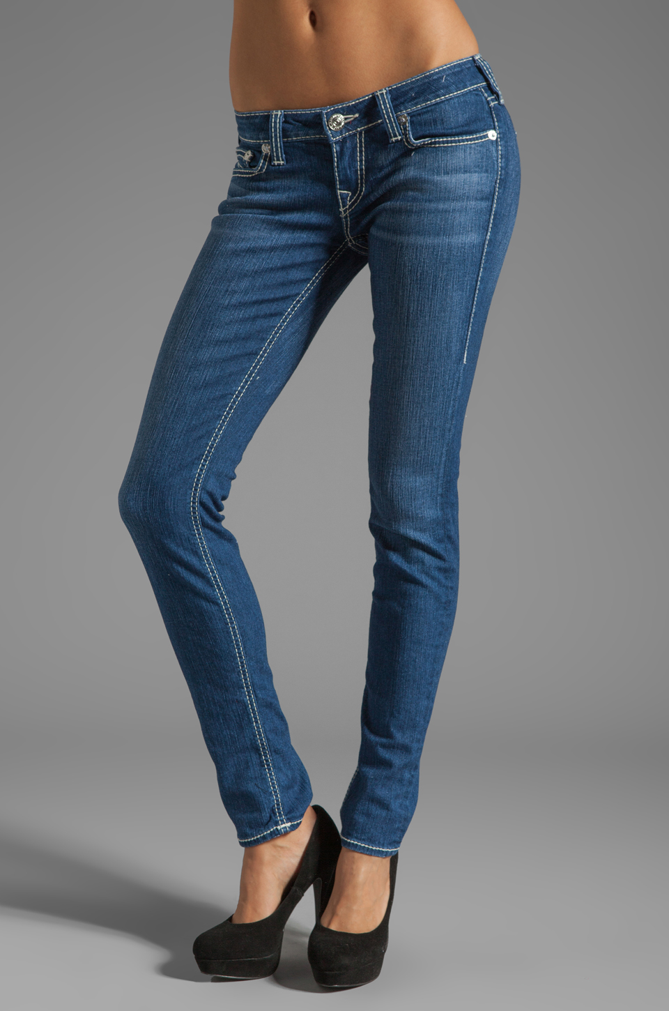 True Religion Stella General Lee Skinny in Rosewood