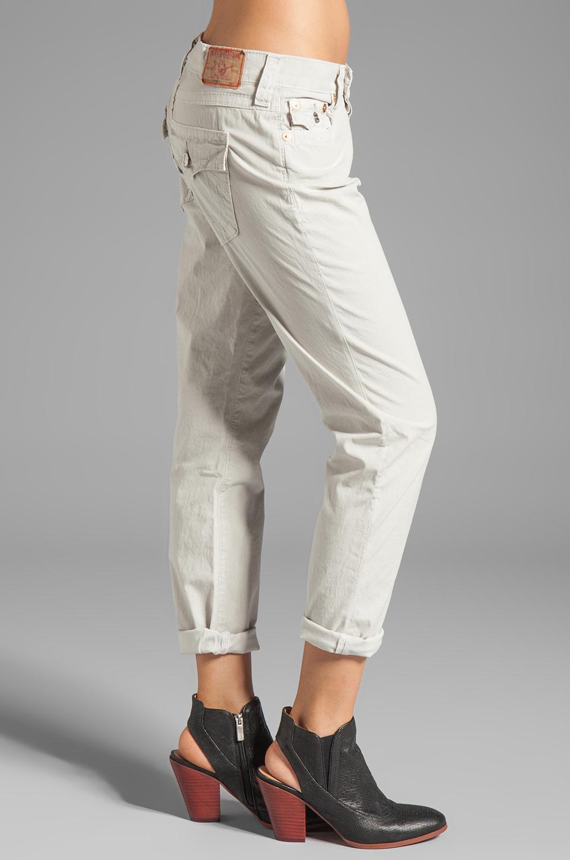 True Religion Overdye Cameron Boyfriend Jeans in Stone Grey
