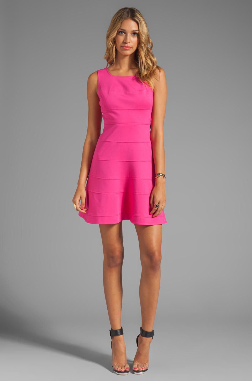 Trina Turk Tropical Ponte Nikola Tank Dress in Barbie Pink