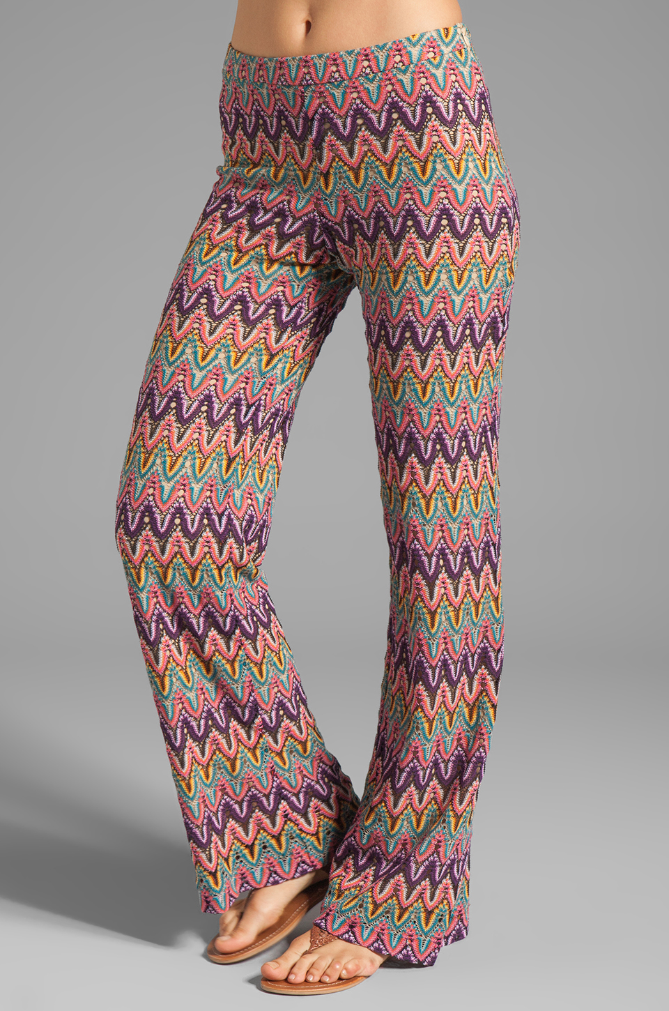 Crochet Stitches Multicolor : Trina Turk Flame Stitch Crochet Lace Perleen Pant in Multi REVOLVE