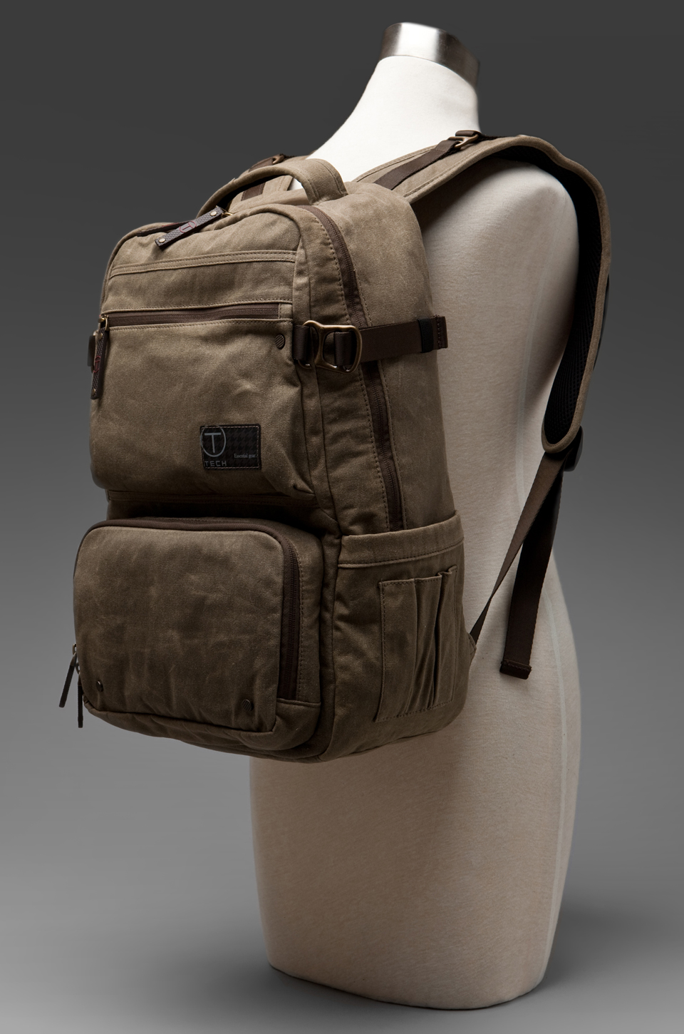 Tumi T-Tech Melville Zip Top Brief Pack in Khaki