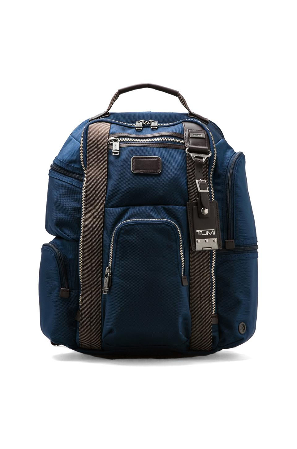 Tumi Alpha Bravo Kingsville Deluxe Brief Pack in Baltic