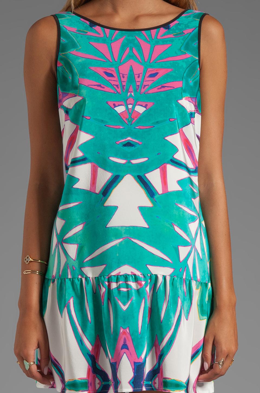 Twelfth Street By Cynthia Vincent Leeward Drop Waist Scoop Back Dress in Summer Leaf