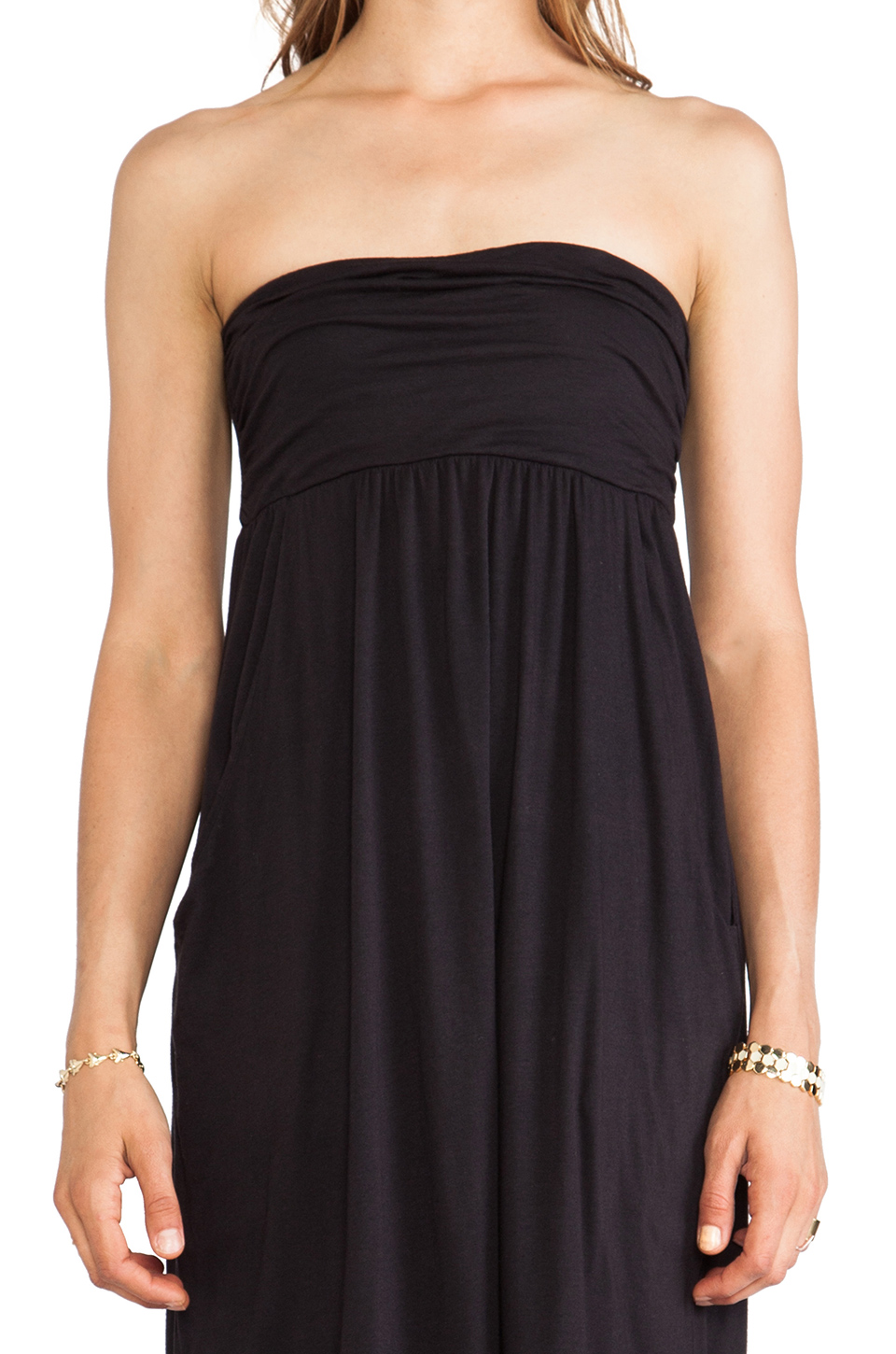Velvet by Graham & Spencer Gauzy Whisper Morainn Dress in Black