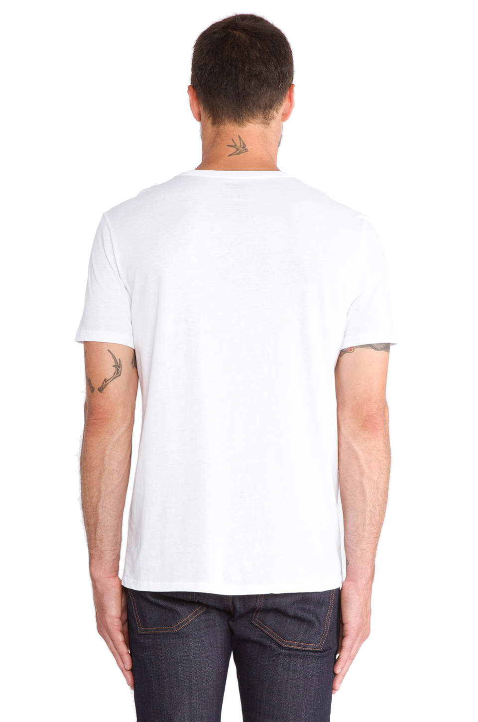 Vince Favorite Jersey Crew in White