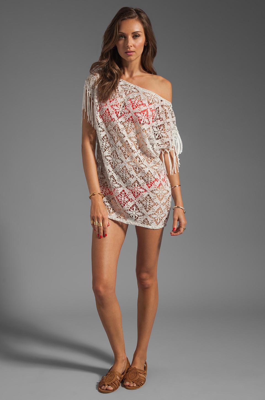 Vix Swimwear Solid Arpex Dress in White
