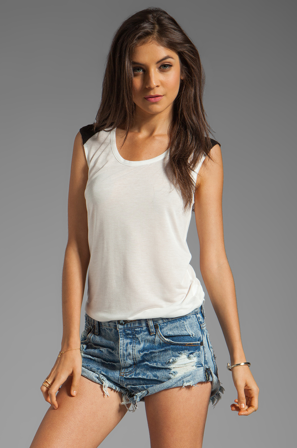 Whetherly Lizzie IIII Color Block Tank in Day