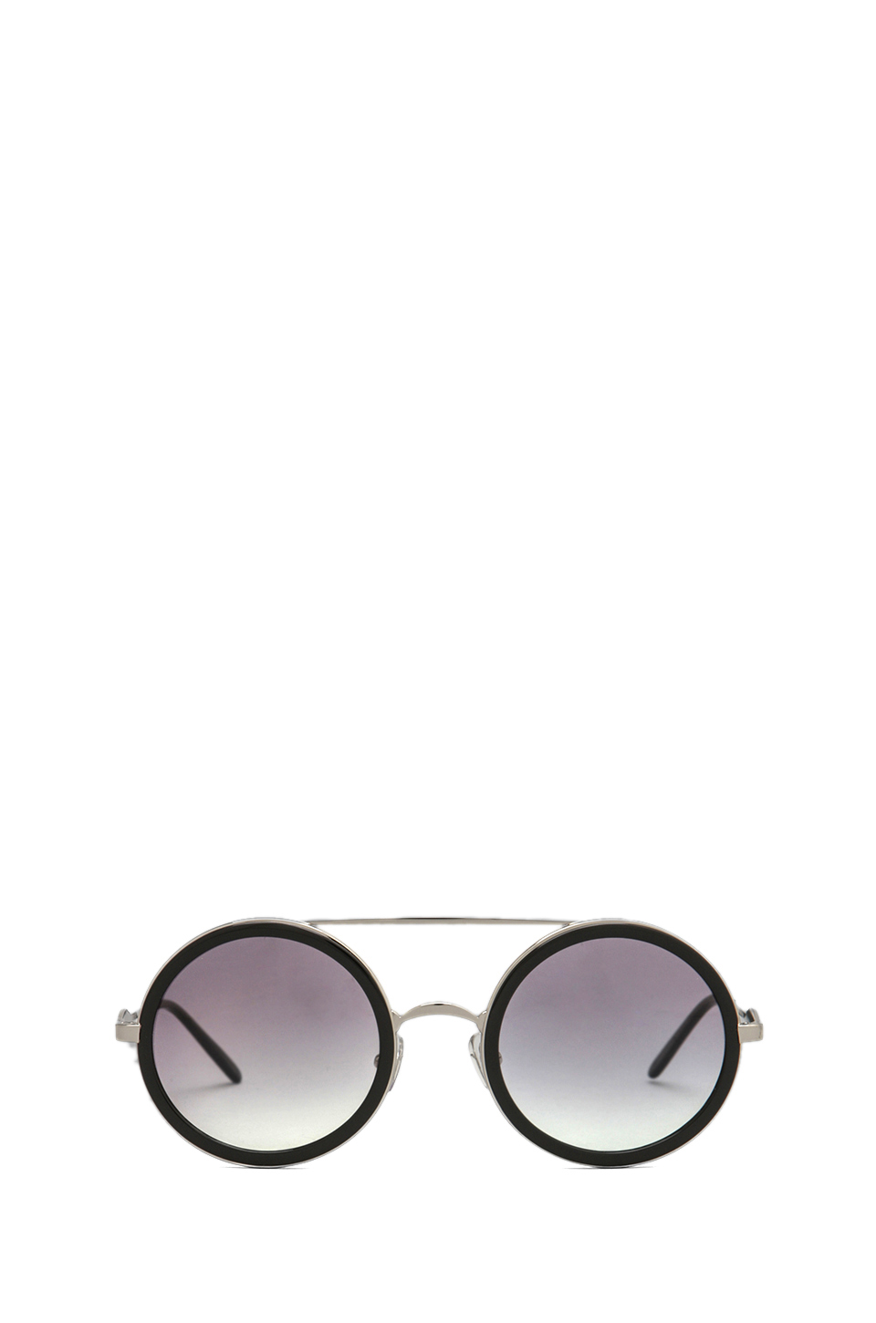 Wildfox Couture Winona Circle Frame Sunglasses in Silver w/ Black